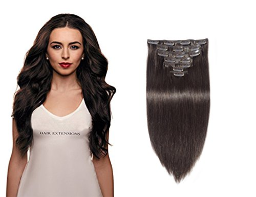 Best hair extensions for short hair sandra downie the dark short hair may benefit from the clip in sets 10pcs clip in human hair extensions darkest brown the hair extensions give a nice volume and great pmusecretfo Image collections