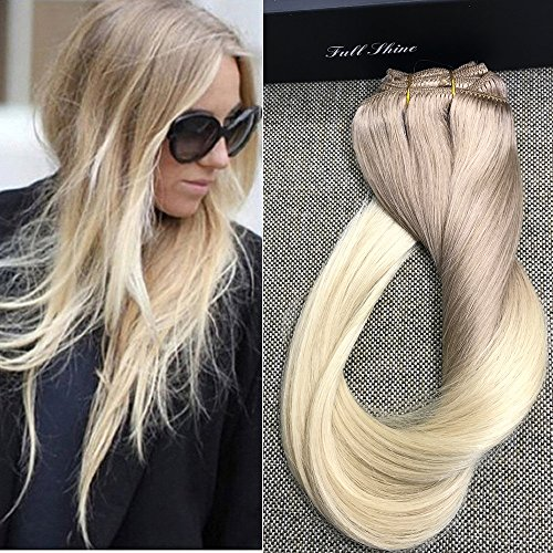 Best hair extensions for short hair sandra downie to play it safe with your blond short hair give it a try with the full shine 24 7 piece per set 140 gram remy human hair clip in weft hair extensions pmusecretfo Image collections