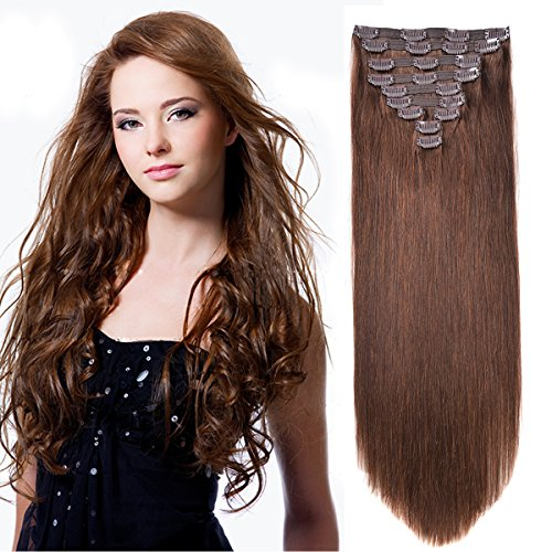 Best clip in hair extensions sandra downie for more volume and definitely more length on your chocolate brown fine strands give it a go with the 20 clip in hair extension human hair extensions clip pmusecretfo Images